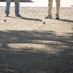 A game of petanque