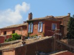 A house high in the village of Roussillon.