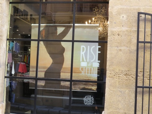 A good 20 percent of Aix-en-Provence's stores integrate English into their displays.