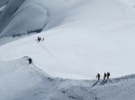 OK, it's a bit of a circus up here.  Tourists trek over ice fields