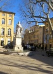 Roi Rene was the leader of Aix in the 15th century and did much to develp the city