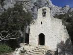 Chapel built into the hillside of Mont Sainte Victoire, east of Aix-en-Provence