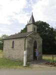 A miniature roadside chapel in the Haute-Saone region of France
