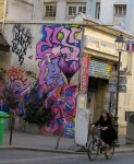 A bikeride past street art, Paris' Marais.
