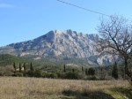 Mont Sainte-Victoire in winter.