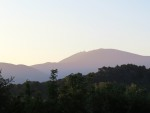 A spring sunset behind Mont Ventoux.