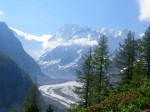The Montenvers Glacier above Chamonix can be reached by cog railway as well as foot.