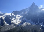 A glistening glacier in the Mont Blanc range.