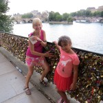 and stopped by the locks of love on the Seine.