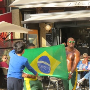 Brazilian street performance aided by