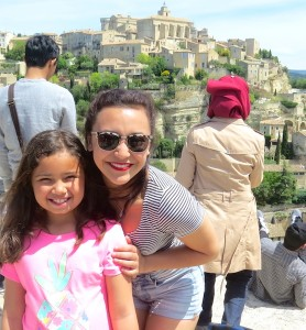 In Gordes, Devon posed with Antonia.